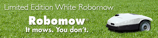 Limited Edition White Robomow - Robomow: It mows, you don't