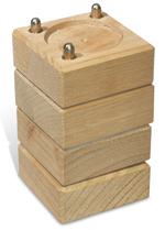 Wooden Desk Raisers - Set of 4