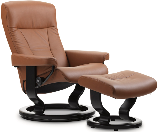 Stressless President Recliner with Footstool