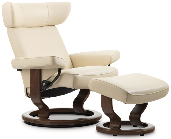Stressless Viva Recliner with Footstool