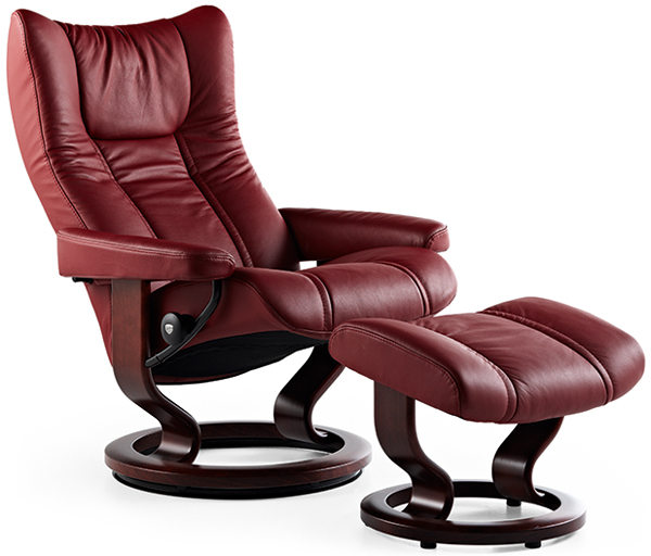 Stressless Wing Recliner Back In Action